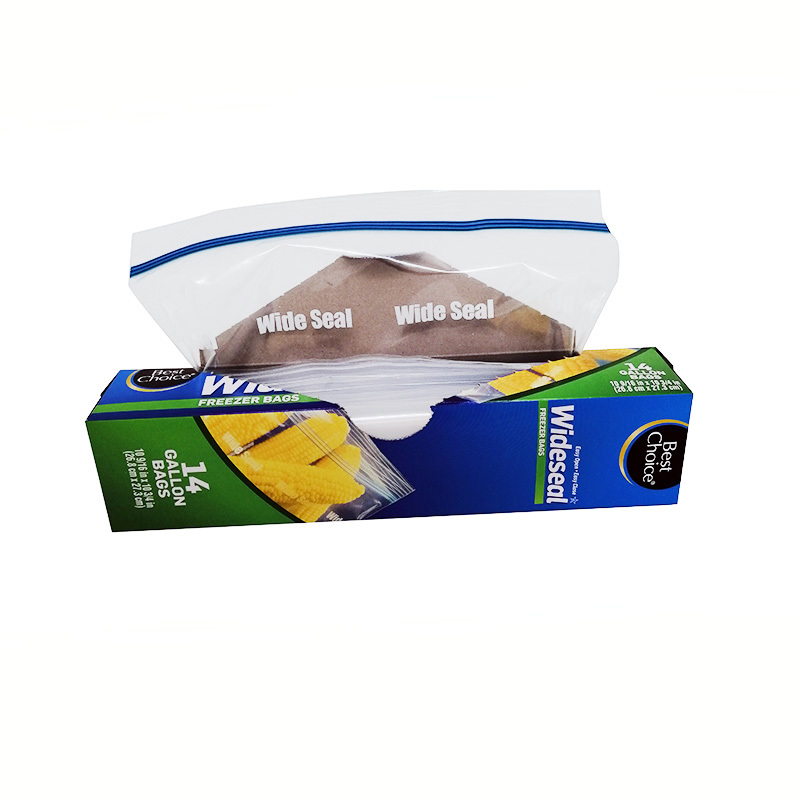 LDPE wide seal gallon freezer bags for food