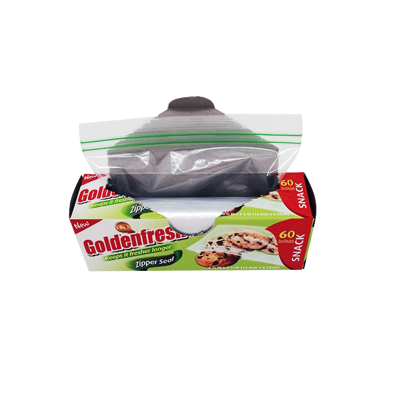 Plastic PE reclosable snack storage bag