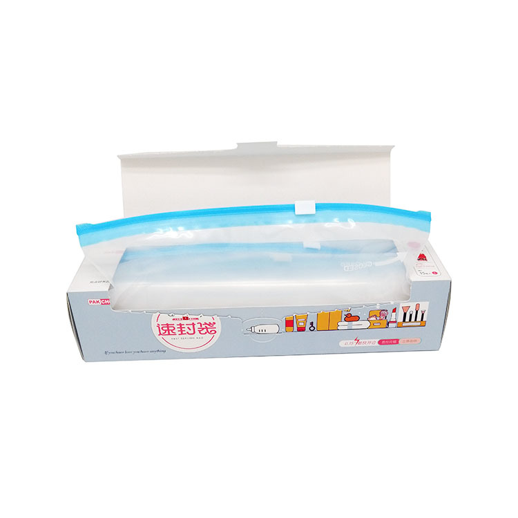 PE plastic gallon slider zipper bags with expand bottom