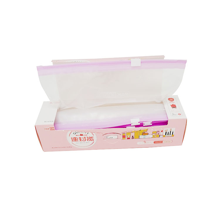 PE plastic quart slider zipper bags with expand bottom