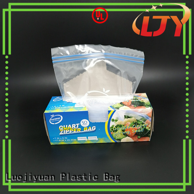 Fufresh seal quart size plastic bag company for cosmetics