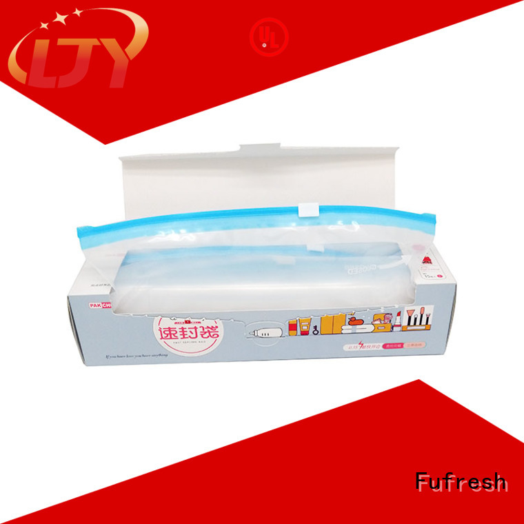 Fufresh expand ziploc slider bags manufacturers for stationeries