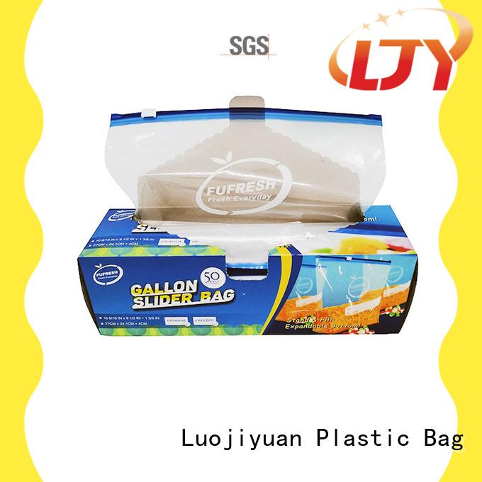 Fufresh bottom plastic slider bag factory for electronic parts